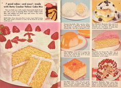 vintage recipe book Betty Crocker Yellow Cake Mix by obsequies, via Flickr