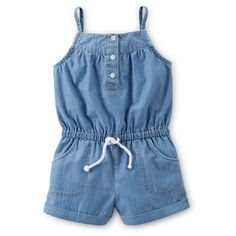 Chambray Romper on Wanelo