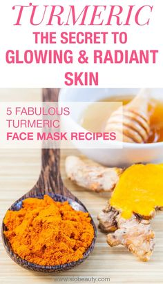 The secret to glowy and radian skin – 5 fabulous turmeric face mask recipes Homemade Face Masks, Homemade Skin Care, Diy Face Mask, Homemade Moisturizer, Makeup Tricks, Turmeric Face Mask, Turmeric Facial, Skin Care Routine For 20s, Face Routine