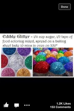 Edible glitter to decorate cookies or cakes