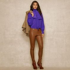 Blue Label Skinny Leather Pant