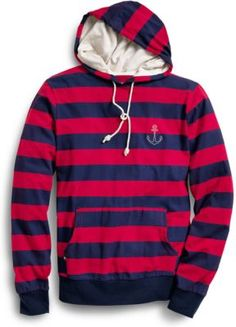 Girls and guys can both rock this great striped hoodie. Wear it with jeans and flip flops or with shorts and boat shoes, it's a great way to layer up.