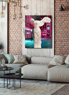 Lovers Art, Oil On Canvas, Craft Supplies, Interior Painting, Neon, Stylish, Modern, Sofa, Furniture