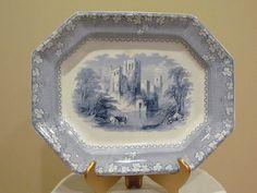 ALCOCK (Priory) antique staffordshire platter C 1850's