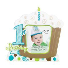 1st Birthday Frame - Blue
