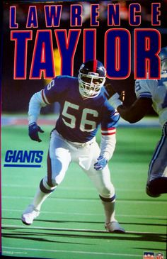 I had this poster hanging in my room when I was a kid. New York Giants Football, Raiders Football, Football Is Life, Steelers Football, Football Fans, Football Helmets, Football Humor, Lawrence Taylor, Famous Sports