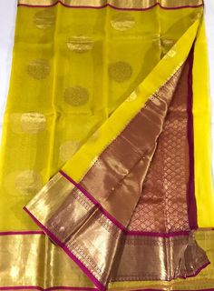 Buy Pure Kanchi Organza Silk Sarees at slokaonline.com, Pure Organza Silk online at slokaonline.com, Organza Silk, Buy Organza Sarees online at slokaonline.com
