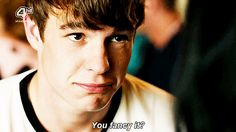"""Nico Mirallegro in """"My Mad Fat Diary"""" (gif) Nico Mirallegro, Series Movies, Movies And Tv Shows, Tv Series, What Makes Me Me, Stupid Things, Dear Diary, My Spirit Animal, To My Future Husband"""