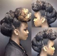 Natural hair updo