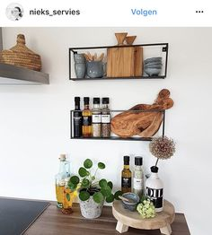 Home Decor Kitchen, Kitchen Interior, Home Kitchens, Kitchen Dining, Diy Home Decor, Room Decor, Urban Outfitters Home, Sweet Home, Minimal Kitchen