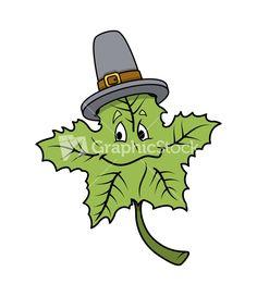 green-cartoon-leaf-with-hat-vector_mkwb7z_M.jpg (867×1000)