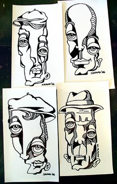 Sharpie Drawings by sammo371, via Flickr