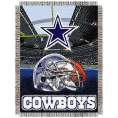 Dallas Cowboys Acrylic Tapestry Throw Blanket by Northwest. $34.95. Officially licensed NFL product. This Cowboys 4' x 5' loom-woven triple layer jacquard throw blanket is fringed on all 4 sides. This blanket can be used at the game, on a picnic, in the bedroom or cuddle under it in the den while in front of the fire.Officially licensed NFL product