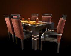 Debra May Himes Interior Design & Associates- Dining Table Design