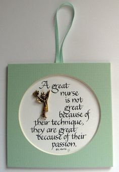 A Great Nurse Is Not Great by PenCraftbyLinda on Etsy, $8.00
