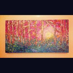 Woodland scene. I love colours!