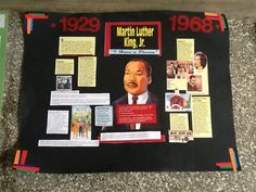 Poster of various important events in the life of Dr. King.  Created by a group of youth.