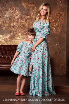 Mother daughter dresses Vintage Floral dress print Half Sleeve Family Matching Outfits mommy and me Ankle-length dress mini me Mommy And Me Dresses, Mommy And Me Outfits, Mom Dress, Baby Dress, Girl Outfits, Girls Dresses, Maxi Dresses, Evening Dresses, Dress Girl