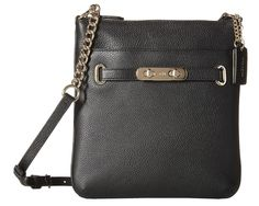 Coach 36501 Leather Swagger Courier Swingpack Black Cross Body Bag. Get the trendiest Cross Body Bag of the season! The Coach 36501 Leather Swagger Courier Swingpack Black Cross Body Bag is a top 10 member favorite on Tradesy. Save on yours before they are sold out!