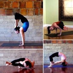 how to burn more in yoga....holy cow and I thought holding a warrior pose was hard. How are these girls doing these poses?!