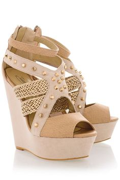 Love these cream studded wedges