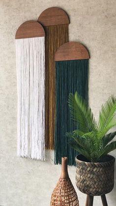 casita hanging wall fiber art mid century modern art tapestry wall art home decor hanging wall yarn woven tapestry macrame half moon panel Home Crafts, Diy Home Decor, Wall Decor Crafts, Handmade Home Decor, Handmade Art, Nature Home Decor, Home Decoration, Handmade Decorations, Modern Tapestries