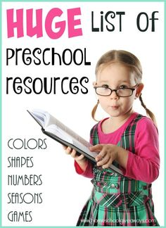 Whether you're teaching preschool for the first time or just want a more structured routine, this HUGE list of preschool resources has what you need. :: www.homeschoolgiveaways.com