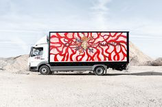 spain's network of transportation routes host art in motion during the duration of the 'truck art project'.
