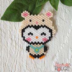 @unegrenouillerouge Seed Bead Patterns, Peyote Patterns, Beading Patterns, Perler Beads, Beading For Kids, Beaded Animals, Beading Projects, Loom Beading, Bead Art