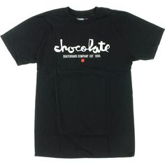 Chocolate Chunk EST Black/White t-shirt - new at Warehouse Skateboards! #WHSkate