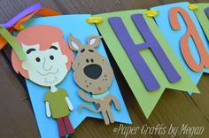 Scooby Doo! Where are you? Its time for a celebration and this Happy Birthday Scooby-Doo banner is sure to add fun to any party!! This is a