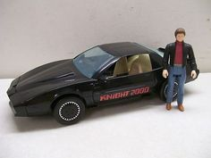 Kenner Knight Rider talking car and Michael Knight action figure set. This original cost my parents around 30 dollars and supposedly I went through two of them. This toy now retails for over 200 dollars.
