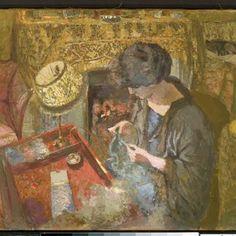 Édouard Vuillard - Madame Hessel at her Sewing Table, 1917