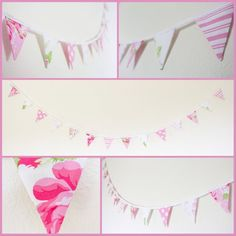 Mini pretty pink bunting candy pink floral fabric flags | Etsy Bedroom Bunting, Pink Bunting, Girl Decor, Pink Candy, Birthday Gifts For Her, Floral Fabric, Girls Bedroom, Pretty In Pink, Flags