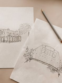 We love creating illustrations! Do you love your venue and want to feature it in your invitation suite or want to give to a couple? Here is a little peak at the beginning stages of layout and design. Custom Stationery, Stationery Design, Custom Invitations, Invitation Suite, Layout, Couple, Illustrations, Paper, Etsy