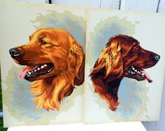 Paint By Numbers Dog Retriever Setter Vintage by electricbluebird, $52.00