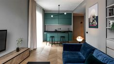 Apartment in Cold Grey Tones by AKTA