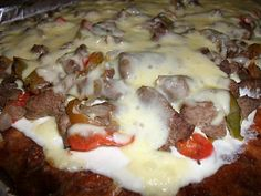 Low Carb Philly Cheese Steak Pizza