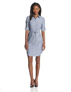 Calvin Klein Women's Short Sleeve Tie Waist Shirt Dress, Chambray Blue, 2 Calvin Klein http://www.amazon.com/dp/B0022SNT7O/ref=cm_sw_r_pi_dp_lexMtb0J1MC58ED1