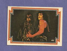 Gene Simmons 1978 Trading Cards | Gene Simmons Paul Stanley from 1978 Donruss Kiss Series 1 Set Card 41 ...