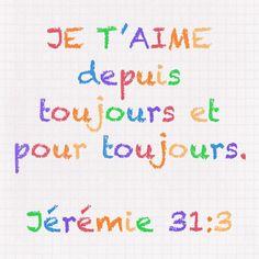 Jérémie 31:3 Bible Words, Scripture Verses, Bible Scriptures, Bible Quotes, Lettering Tutorial, Jesus Reigns, Spiritual Warfare Prayers, Little Prayer, Bible Encouragement