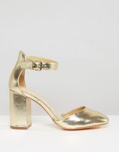 New Look | New Look Metallic Block Heel at ASOS