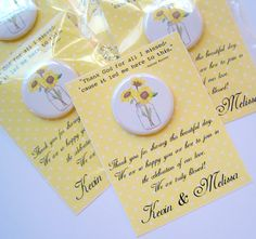 Country Wedding Favors  Sunflower Wedding by StuckTogetherMagnets, $62.50