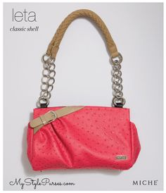 Miche Leta Classic Shell May 2013 from MyStylePurses.com - Salmon Pink Ostrich Purse
