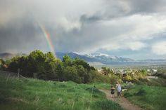 © Summer Murdock rainbow, storm, mountains