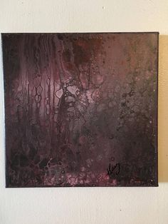Otherworldly Abstract Acrylic Pour Painting Abstract Art