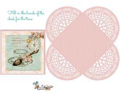 Tea party invite ,envelope & cupcake wraps Free-download