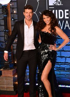 Pin for Later: A Sweet, Somewhat Hilarious History of Celebrity Couples at the MTV VMAs Robin Thicke and Paula Patton, 2013