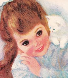 """1962 Northern Girl Brunette    In 1958, Northern Bath Tissue introduced the """"American Beauties"""" girls in its advertisements. The portraits were painted by the artist Frances Hook and first appeared on the associated packaging in 1959."""
