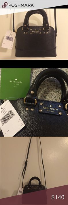 NWT Kate Spade Mini Rachelle bag! 👜 Adorable, brand new authentic Kate Spade Mini Rachelle purse! This bag is so cute! Small enough to fit the essentials with a cross body strap. Black in color, and interior has one pocket. Includes the care card. Strap is adjustable but non removable! Purchased by me and selling because the day after purchase, I bought another bag that Is just too similar! 🙈 I can provide the receipt from Kate spade as well if needed. Great deal on the cutest Kate!! 🎀👜…